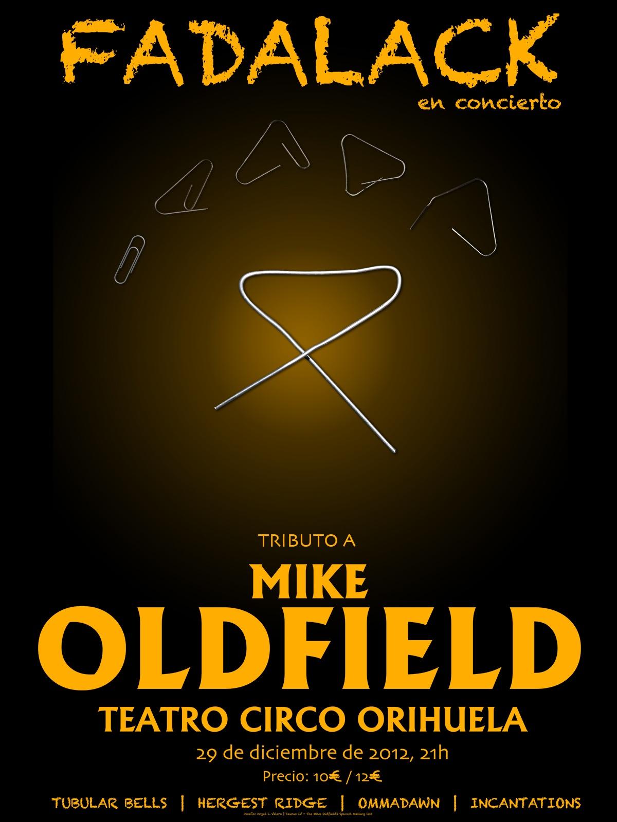 Cartel del concierto de Orihuela 2012