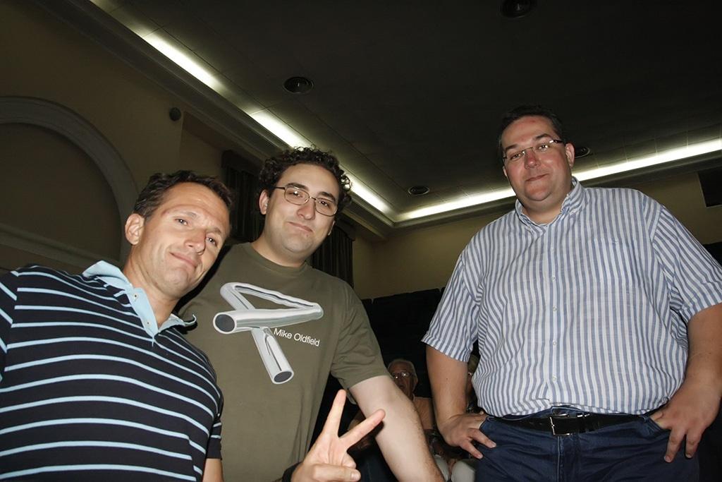 Edu, Octavio y Nacho. Tres míticos del mundo oldfield en España.